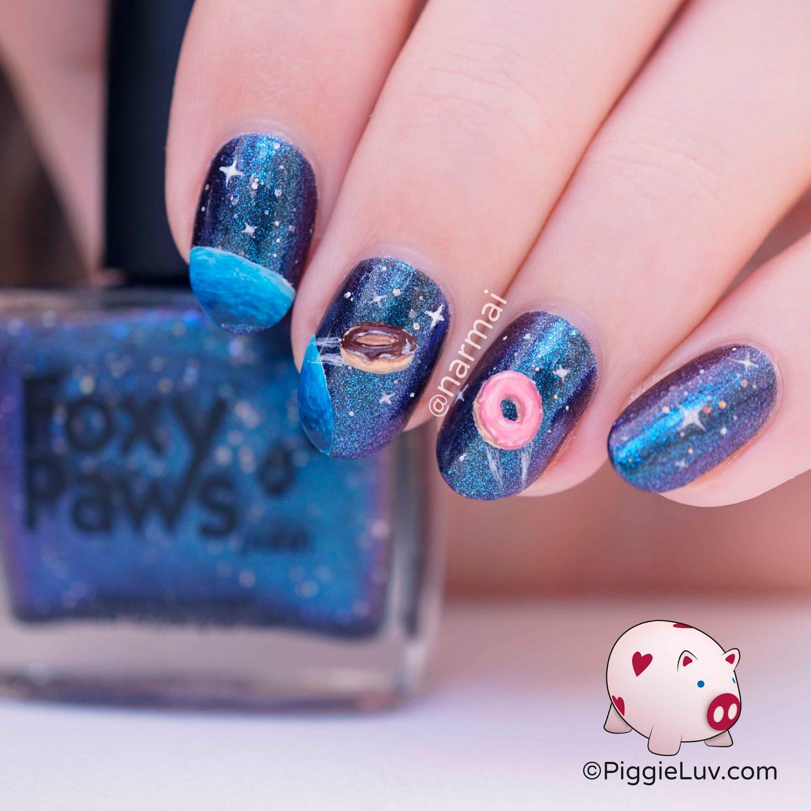 Galaxy Nail Polish Design: Foxy Paws Polish